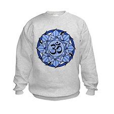Aum Lotus Mandala (Blue) Sweatshirt