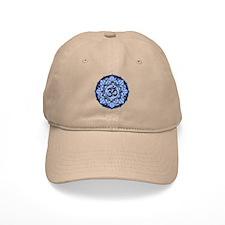 Aum Lotus Mandala (Blue) Baseball Cap