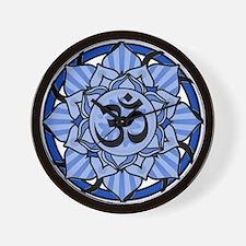 Aum Lotus Mandala (Blue) Wall Clock