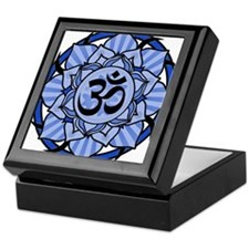 Aum Lotus Mandala (Blue) Keepsake Box