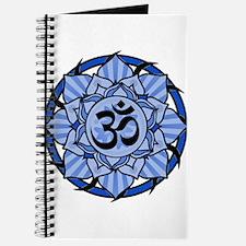 Aum Lotus Mandala (Blue) Journal