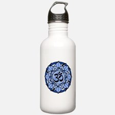 Aum Lotus Mandala (Blue) Water Bottle