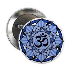"Aum Lotus Mandala (Blue) 2.25"" Button"