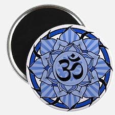 Aum Lotus Mandala (Blue) Magnet