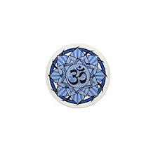 Aum Lotus Mandala (Blue) Mini Button