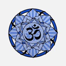 "Aum Lotus Mandala (Blue) 3.5"" Button (100 pack)"