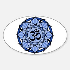 Aum Lotus Mandala (Blue) Decal