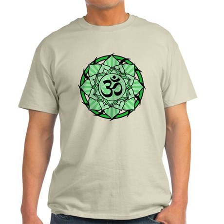 Aum Lotus Mandala (Green) Light T-Shirt
