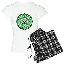 Aum Lotus Mandala (Green) Pajamas
