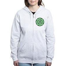 Aum Lotus Mandala (Green) Zip Hoodie