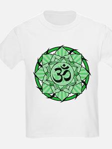 Aum Lotus Mandala (Green) T-Shirt
