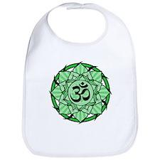 Aum Lotus Mandala (Green) Bib