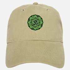 Aum Lotus Mandala (Green) Baseball Baseball Cap
