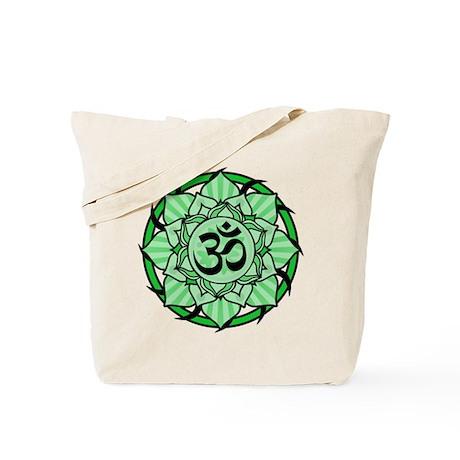 Aum Lotus Mandala (Green) Tote Bag