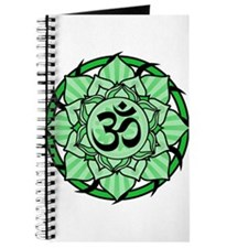 Aum Lotus Mandala (Green) Journal