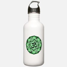 Aum Lotus Mandala (Green) Water Bottle