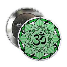 "Aum Lotus Mandala (Green) 2.25"" Button (10 pack)"