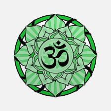 "Aum Lotus Mandala (Green) 3.5"" Button (100 pack)"