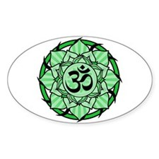 Aum Lotus Mandala (Green) Decal