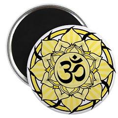 Aum Lotus Mandala (Yellow) 2.25