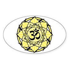 Aum Lotus Mandala (Yellow) Decal