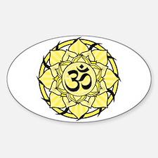 Aum Lotus Mandala (Yellow) Decal