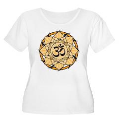 Aum Lotus Mandala (Orange) T-Shirt