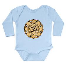 Aum Lotus Mandala (Orange) Long Sleeve Infant Body