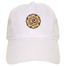 Aum Lotus Mandala (Orange) Baseball Cap