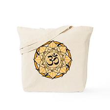 Aum Lotus Mandala (Orange) Tote Bag