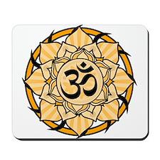 Aum Lotus Mandala (Orange) Mousepad