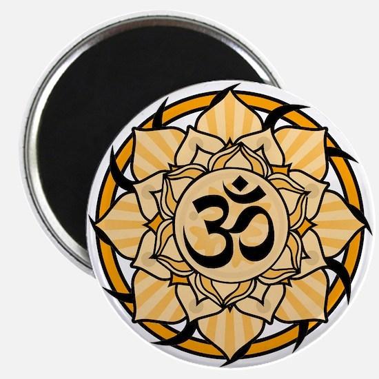 "Aum Lotus Mandala (Orange) 2.25"" Magnet (10 pack)"