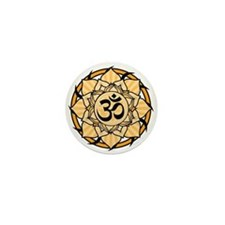 Aum Lotus Mandala (Orange) Mini Button