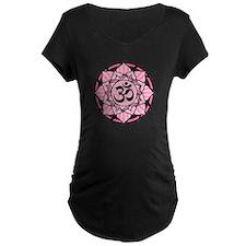 Aum Lotus Mandala (Pink) T-Shirt
