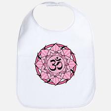Aum Lotus Mandala (Pink) Bib
