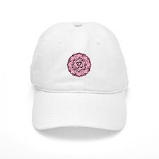 Aum Lotus Mandala (Pink) Baseball Cap