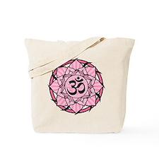 Aum Lotus Mandala (Pink) Tote Bag