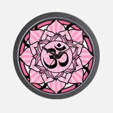 Aum Lotus Mandala (Pink) Wall Clock