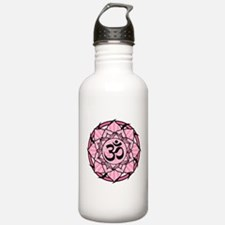 Aum Lotus Mandala (Pink) Water Bottle