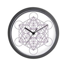 Wall clock with Metatron's cube