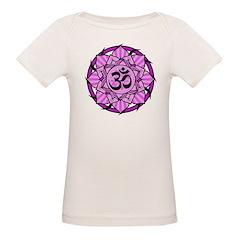 Aum Lotus Mandala (Purple) Organic Baby T-Shirt