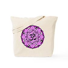 Aum Lotus Mandala (Purple) Tote Bag