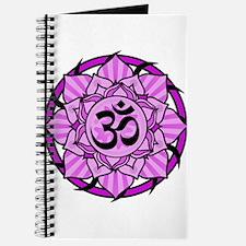 Aum Lotus Mandala (Purple) Journal