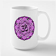 Aum Lotus Mandala (Purple) Mug