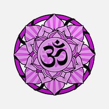 "Aum Lotus Mandala (Purple) 3.5"" Button (100 pack)"