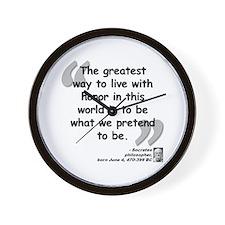 Socrates Pretend Quote Wall Clock