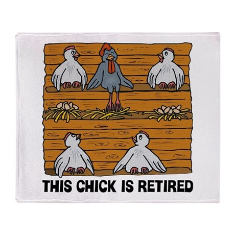 Retired Chick Throw Blanket