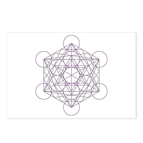 Postcards with Metatron's cube (8x)