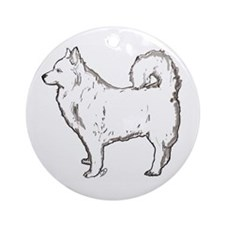 german spitz dog Ornament (Round)