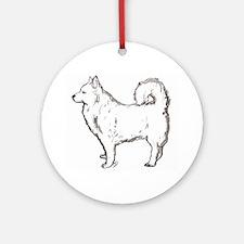 german spitz dog Ornament (Round)